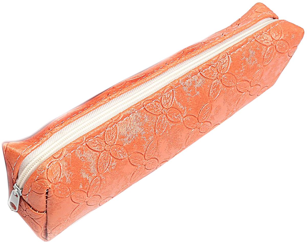 Calligrata Пенал школьный Путешествие цвет оранжевый 2879239 пенал школьный мишка силикон 43816