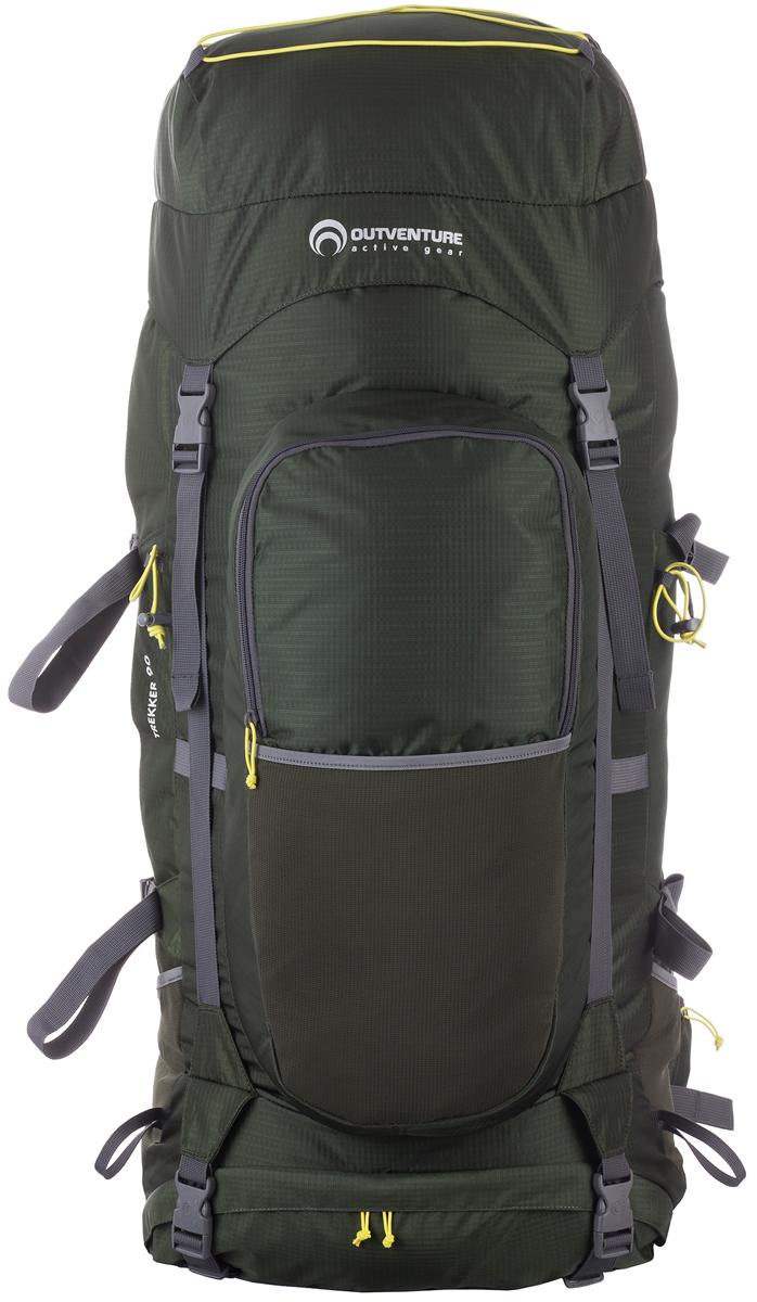 Рюкзак Outventure Trekker, цвет: темно-зеленый, 90 л outventure аккумулятор холода outventure