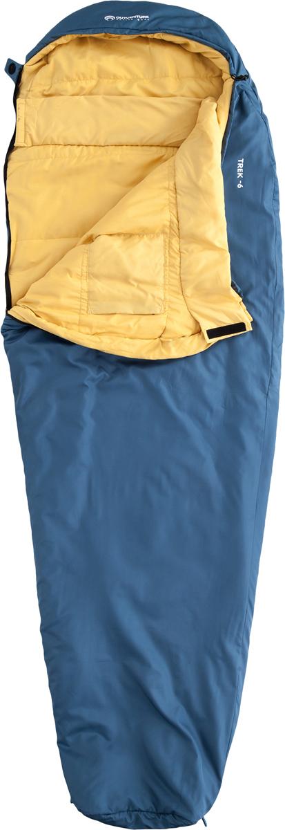 Мешок спальный Outventure Trek, правосторонняя молния, цвет: темно-синий. Размер XL (190 см)