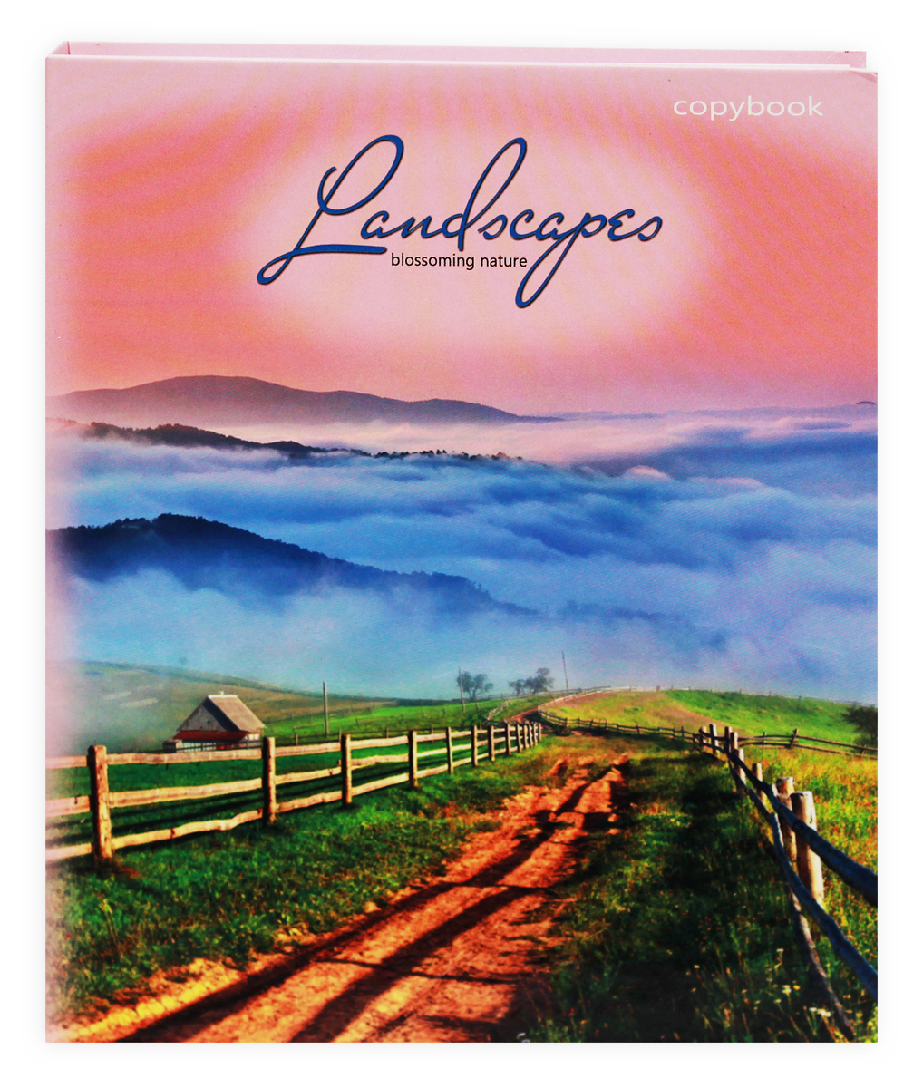 Prof Press Тетрадь на кольцах Туманный пейзаж 160 листов -  Тетради