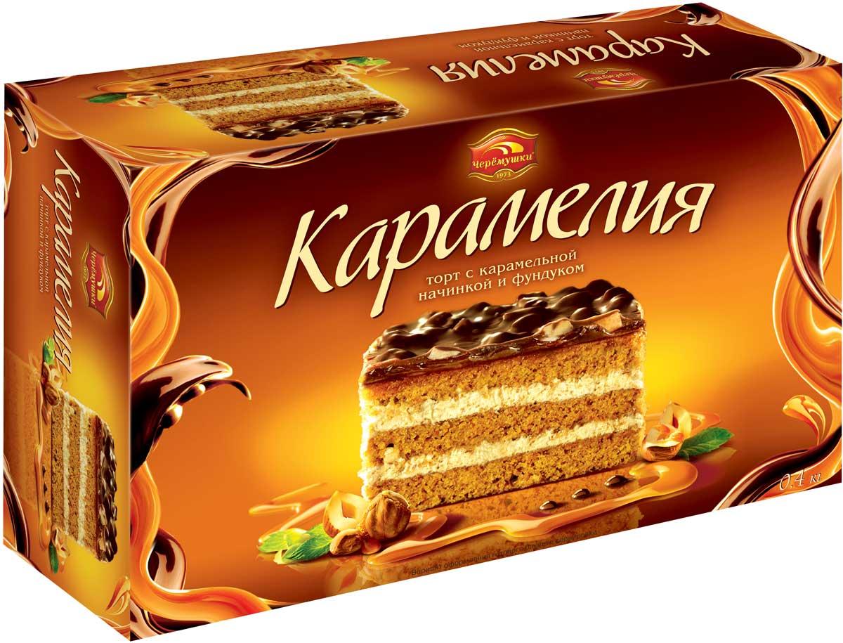 Черемушки Карамелия торт, 400 г торт faretti карамельный 400г
