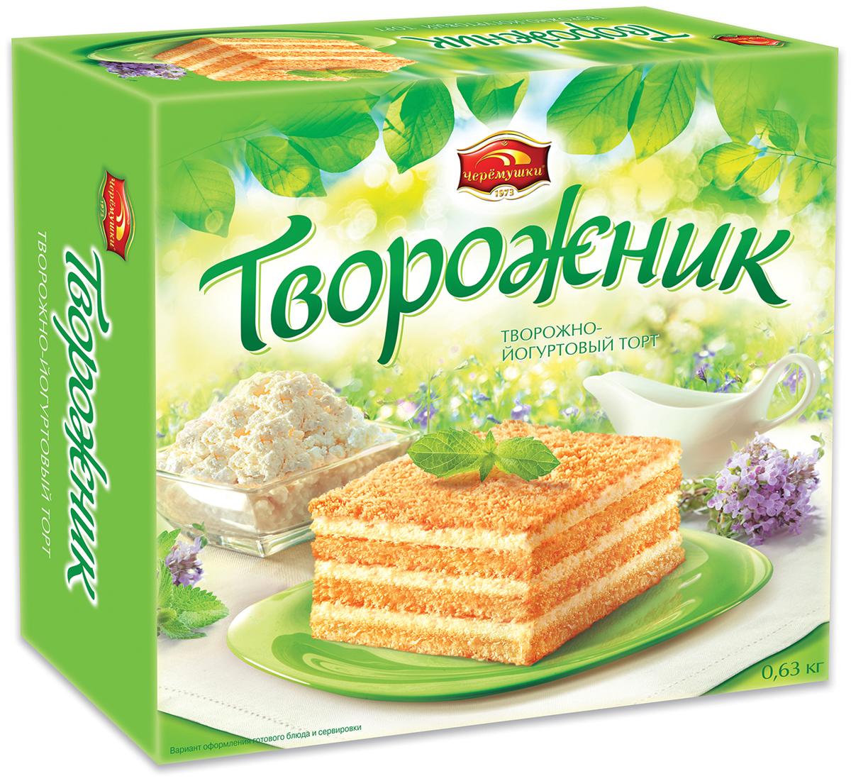 Черемушки Творожно-йогуртовый торт, 630 г активиа биопродукт творожно йогуртный малина 4 2