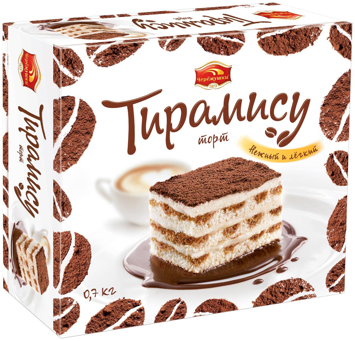 все цены на Черемушки Тирамису торт бисквитный, 700 г в интернете