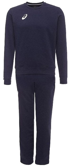 Костюм спортивный мужской Asics Man Knit Suit: куртка, брюки, цвет: синий. 156855-0891. Размер L (50)