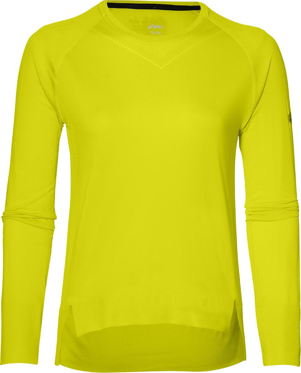 Лонгслив женский Asics Seamless Ls, цвет: желтый. 154545-0486. Размер XS (42) лонгслив женский asics ls 1 2 zip top цвет бирюзовый 134108 8098 размер xs 42