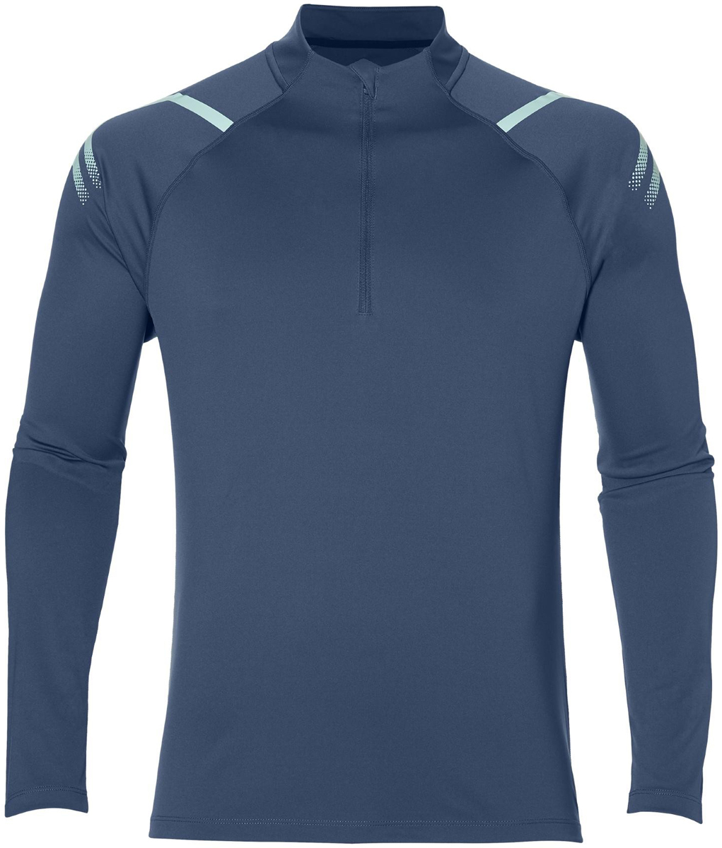 Лонгслив мужской Asics Icon Ls 1/2 Zip, цвет: синий. 154588-0793. Размер XXL (54) лонгслив мужской asics ls 1 2 zip jersey цвет темно синий 154589 1273 размер xl 50