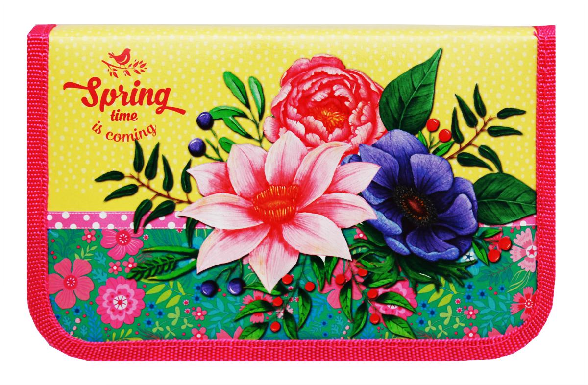 Profit Пенал Весенние цветы ПН-5817 profit пенал яркий орнамент