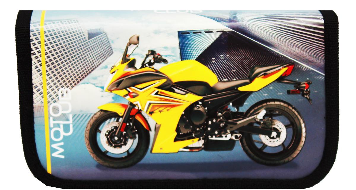 Prof Press Пенал Желтый мотоцикл