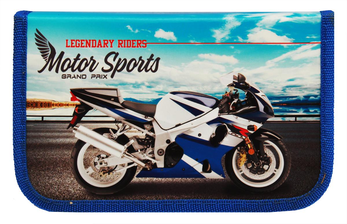 Prof Press Пенал Бело-синий мотоцикл