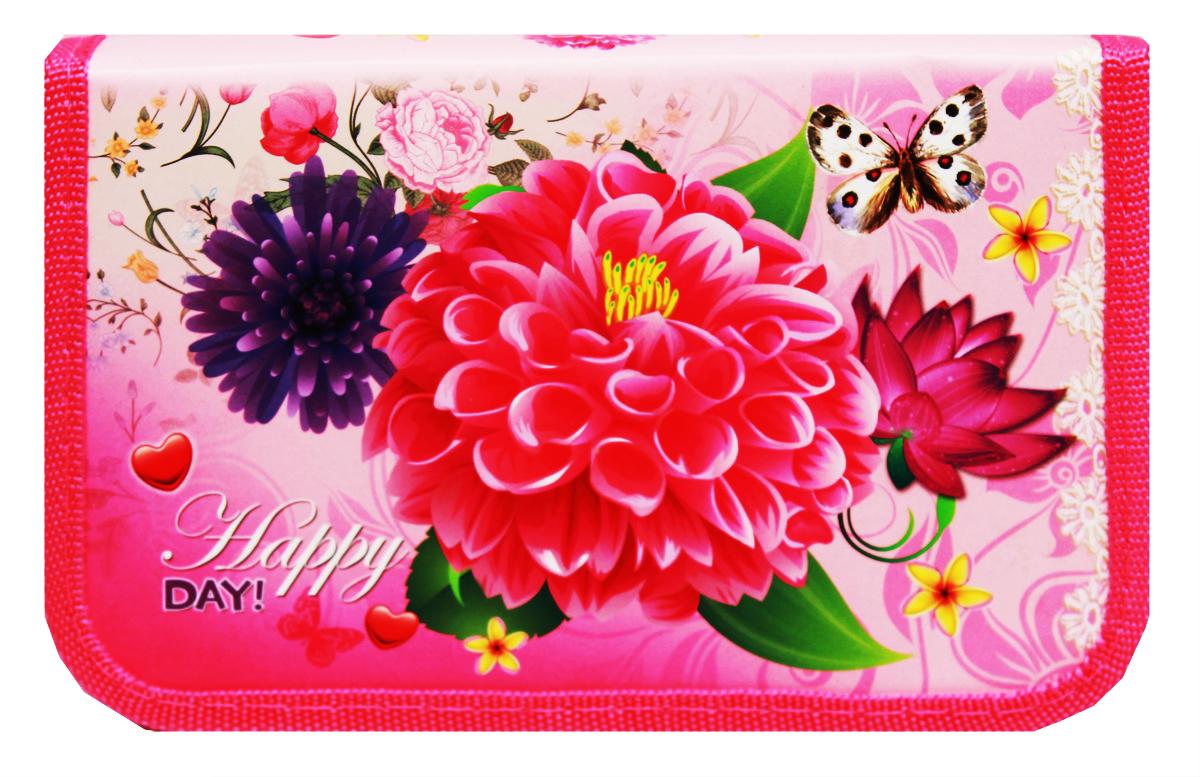 Prof Press Пенал Нежные цветы на розовом prof press пенал волшебные крылышки