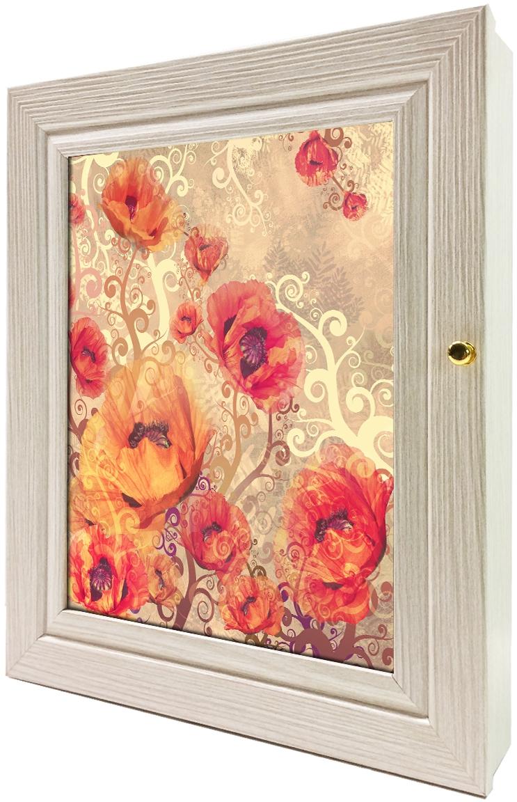 Ключница настенная Toplight, цвет: акация, 24 x 29 x 4,5 см.
