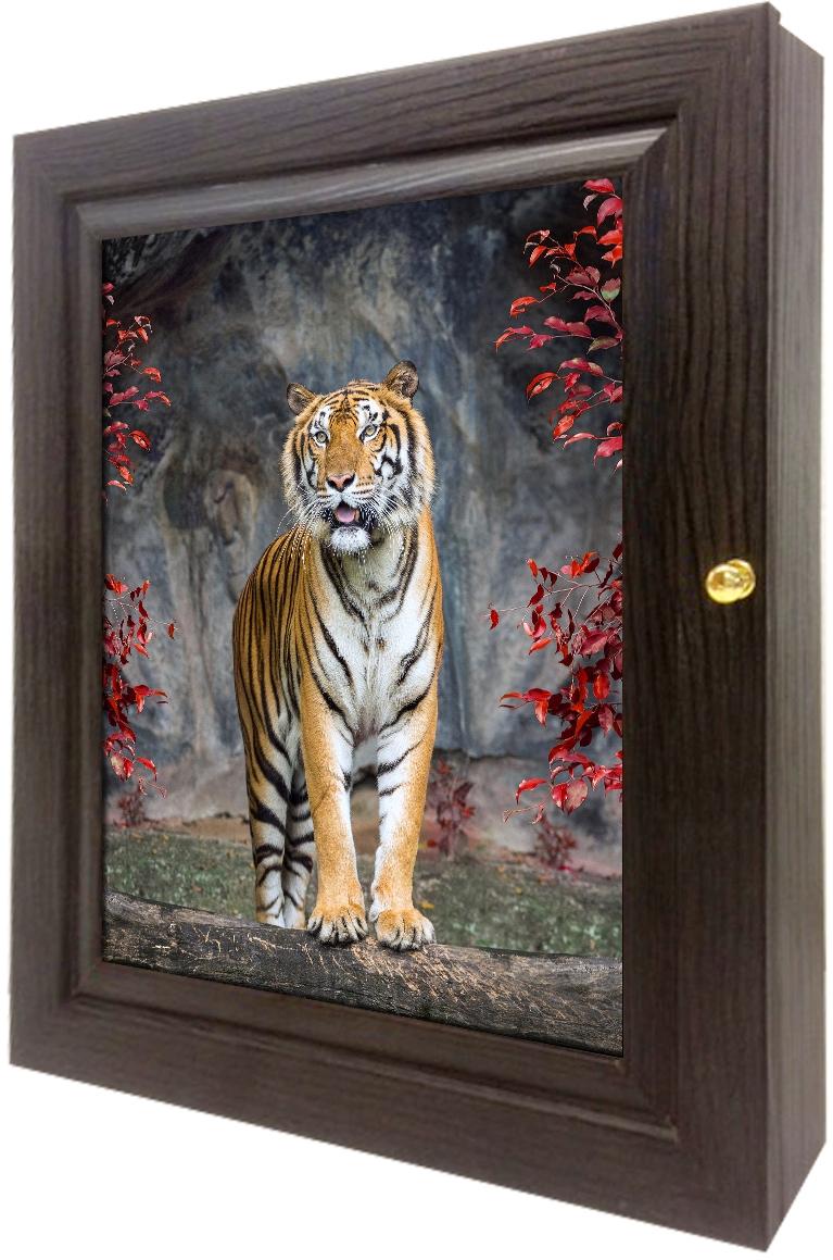 Ключница настенная Toplight, цвет: венге, 24 x 29 x 4,5 см. TL-KVG0166