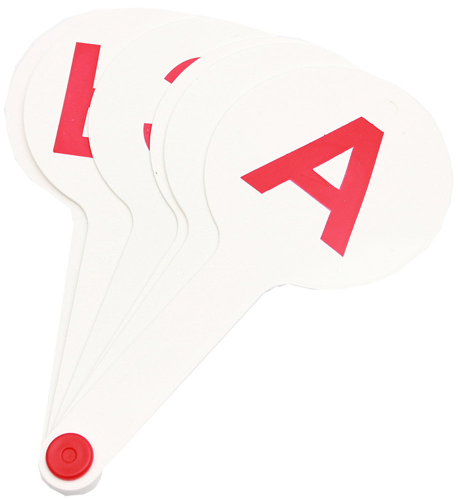 Prof Press Касса веер 6 деталейНР-7693Веер-касса познакомит ребенка с русскими гласными буквами. Состоит из 6 двусторонних карточек, скрепленных между собой, которые выполнены из белого безопасного пластика с красными буквами. Оптимальный размер шрифта и удобная ручка веера делают процесс обучения наглядным и эффективным.