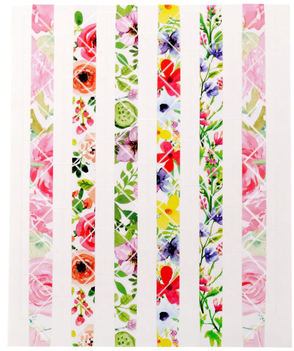 Арт Узор Пластиковые наклейки-уголки для фотографий Акварельные цветы 1512204