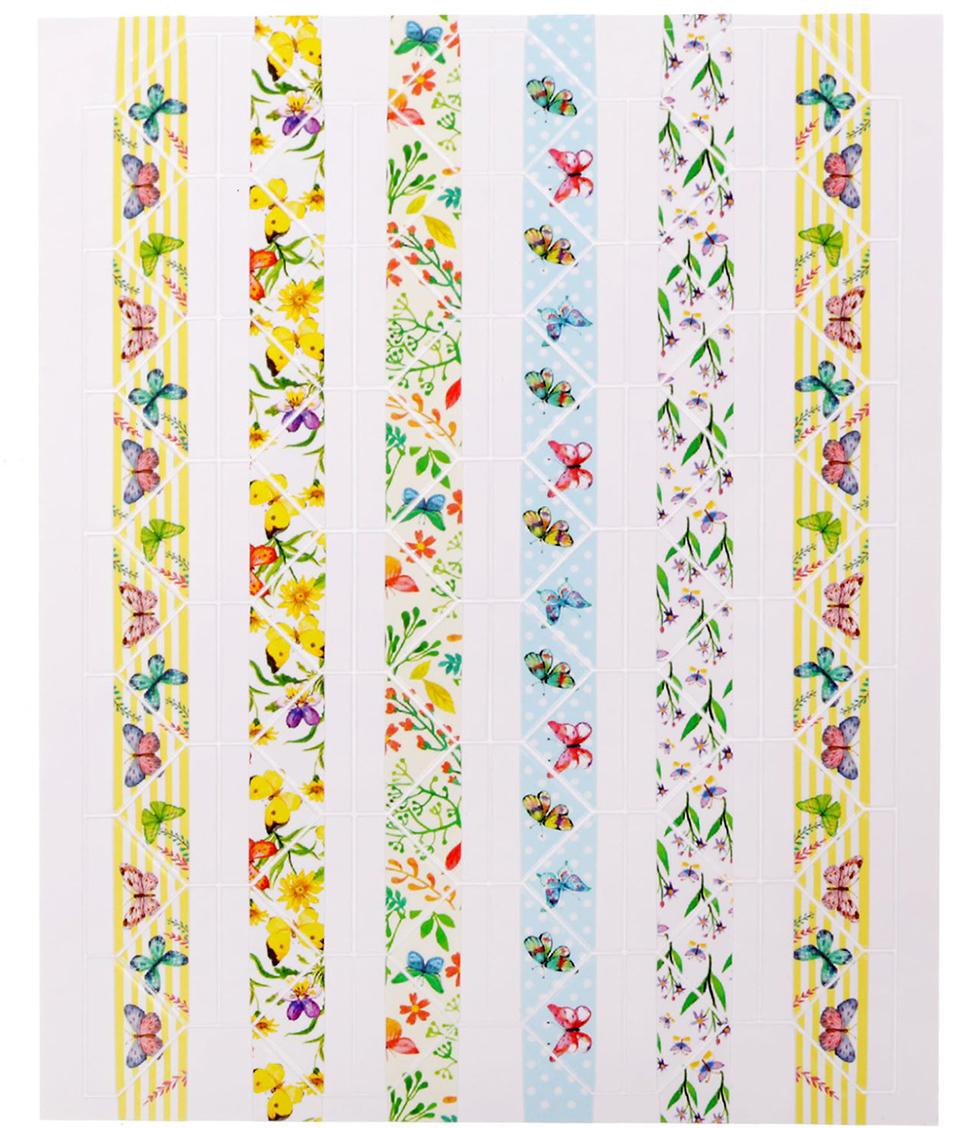 Арт Узор Пластиковые наклейки-уголки для фотографий Яркие бабочки 1512205
