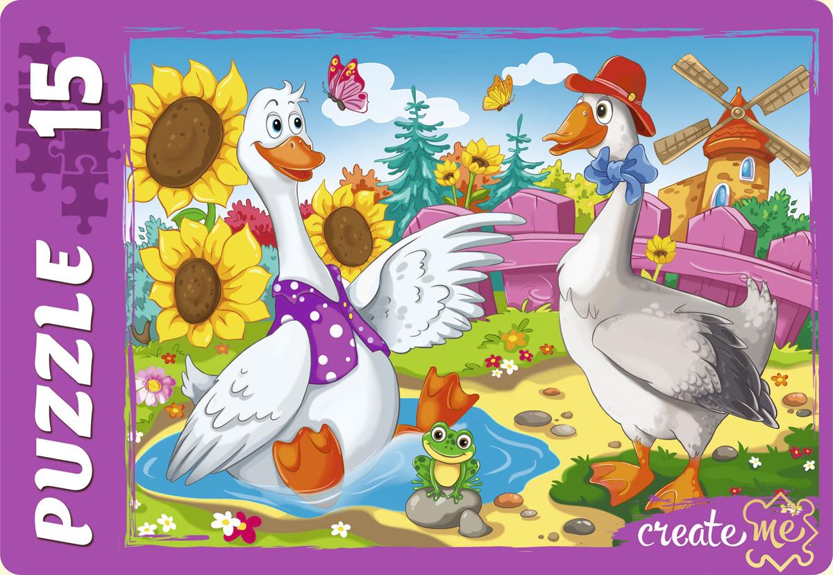 Рыжий Кот Пазл для малышей Два веселых гуся