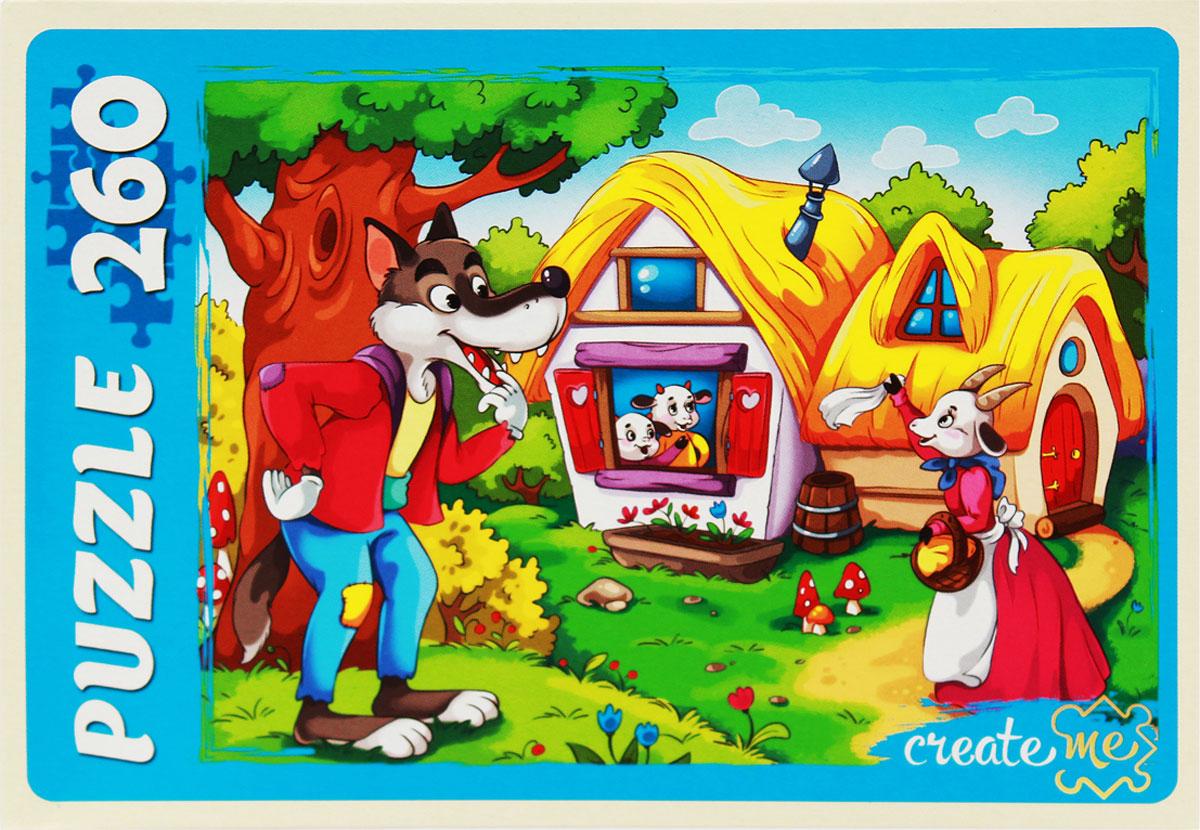 Рыжий Кот Пазл для малышей Волк и семеро козлят