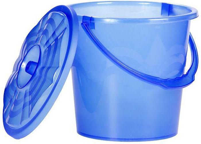 Ведро Proffi, с крышкой, цвет: синий, 7 л верстак верстакофф proffi 216 д5 д6 э 101242