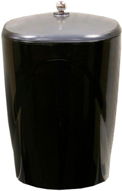 Ведро Proffi Home, с крышкой, цвет: черный, 3,8 л часы настенные proffi home корица