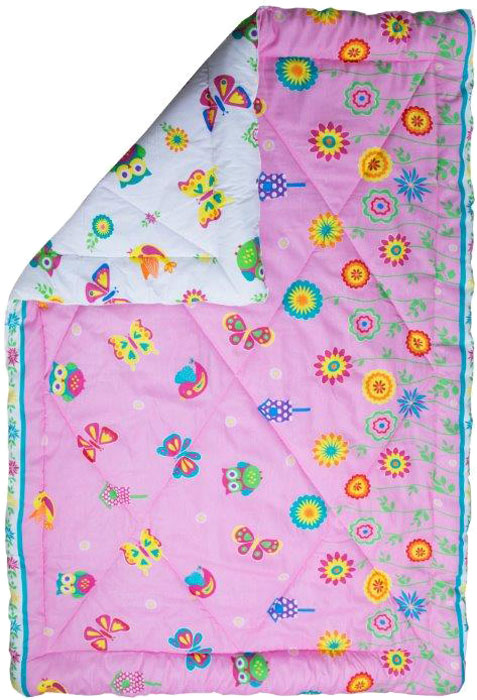 """Одеяло детское Mona Liza """"Бабочки"""", зимнее, 140 х 205 см"""