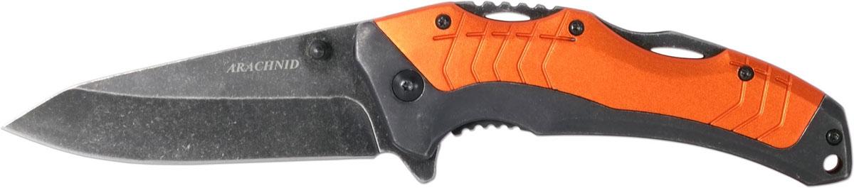 Нож автоматический Ножемир Четкий расклад. Arachnid, цвет: оранжевый, длина лезвия 7,9 см