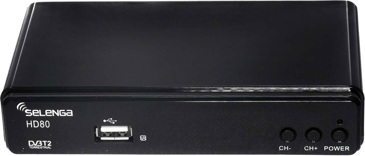 SelengaHD80, Black цифровой телевизионный ресивер DVB-T2