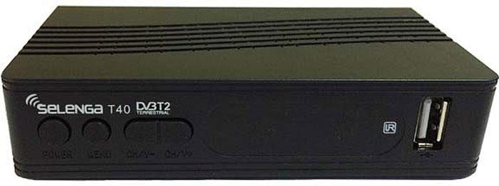 SelengaТ40, Black цифровой телевизионный ресивер DVB-T2