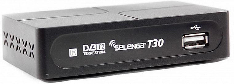 SelengaT30, Black цифровой телевизионный ресивер DVB-T2