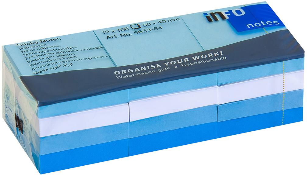 Info Notes Бумага для заметок Aрктика 50 х 40 12 шт 100 листов