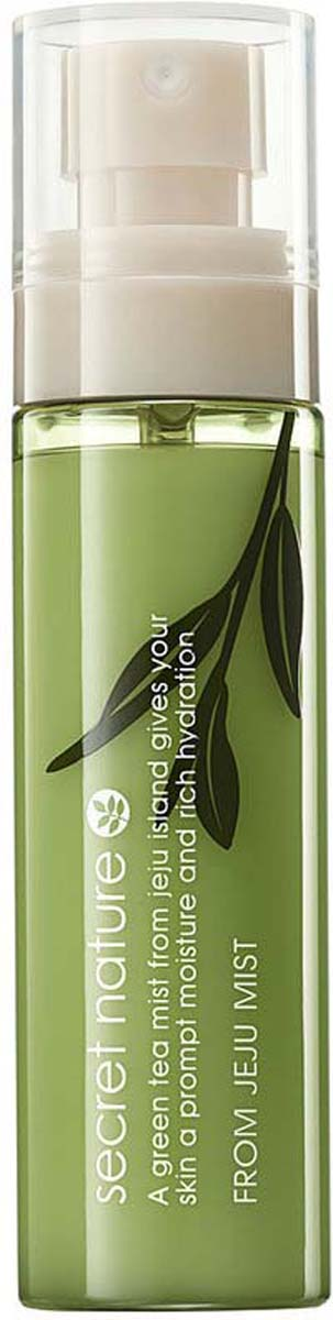Secret Nature From Jeju Mist Увлажняющий спрей-мист с зеленым чаем, 80 мл стайлинг the saem мист silk hair argan volume mist объем 150 мл