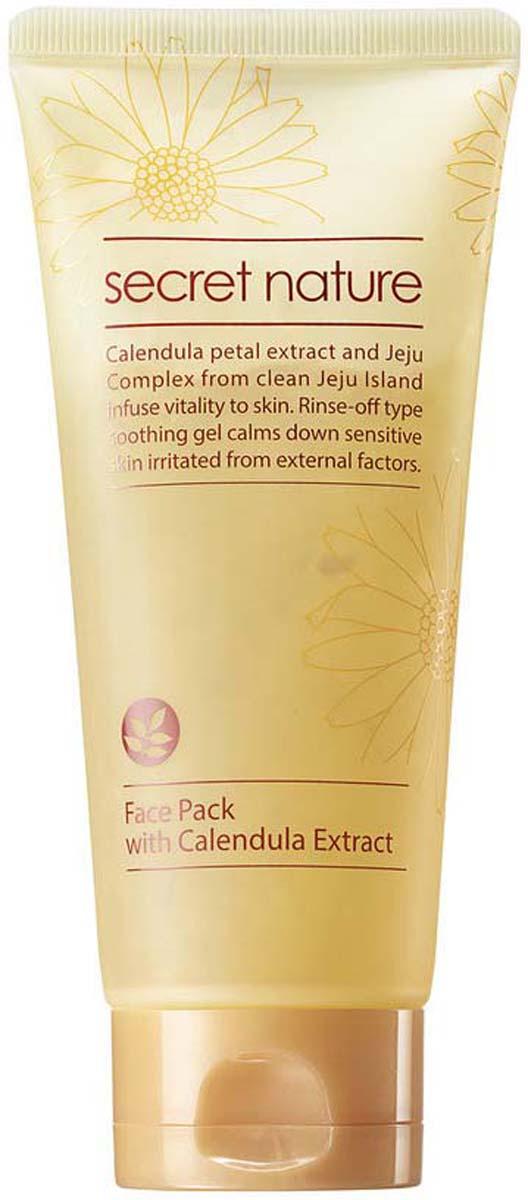 Secret Nature Face Pack With Calendula Extract Смягчающая маска для лица  лепестками календулы, 130 мл