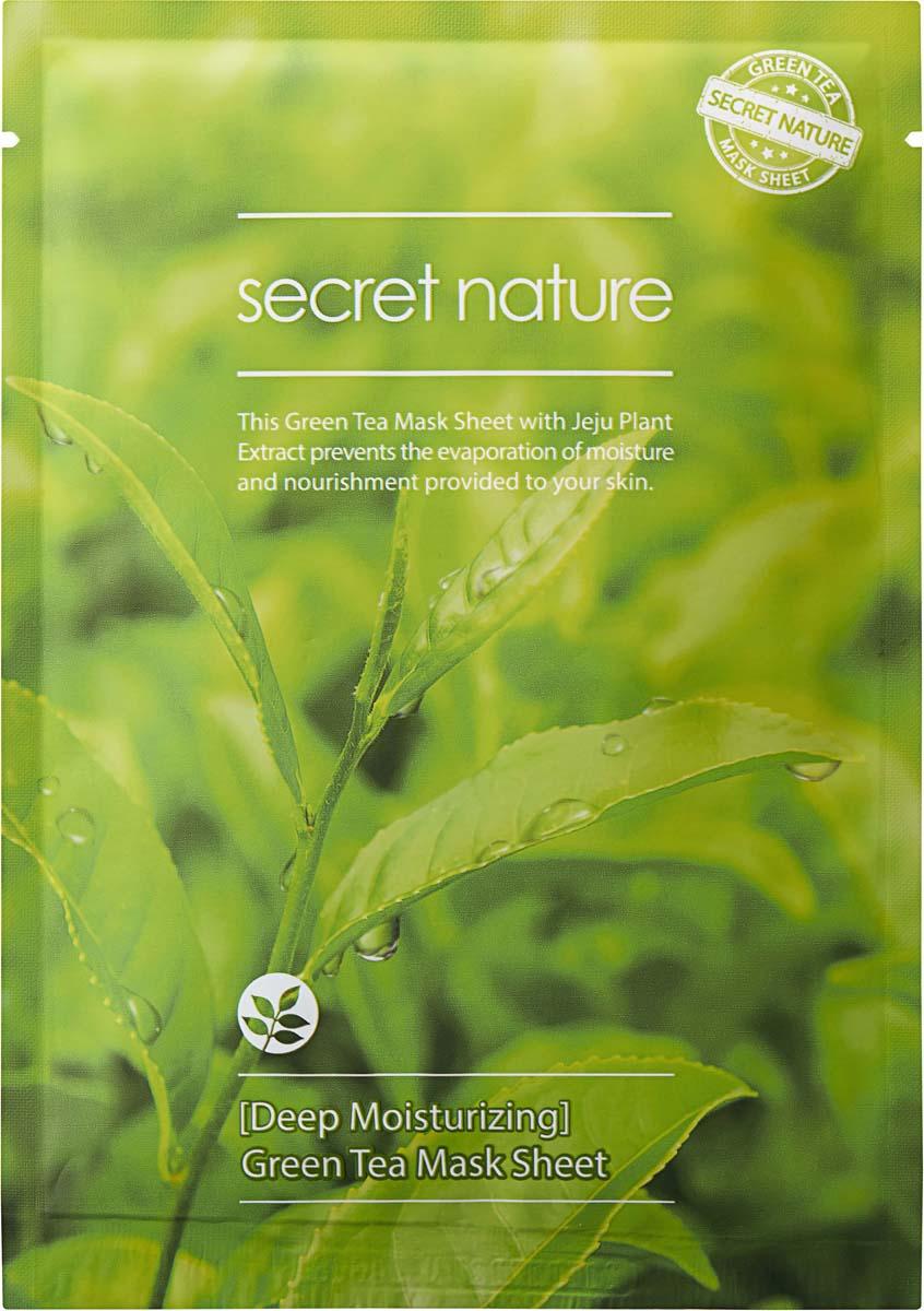 Secret Nature Deep Moisturizing Green Tea Mask Sheet Суперувлажняющая маска с зеленым чаем, 25 мл маска nature republic bamboo charcoal black mask sheet