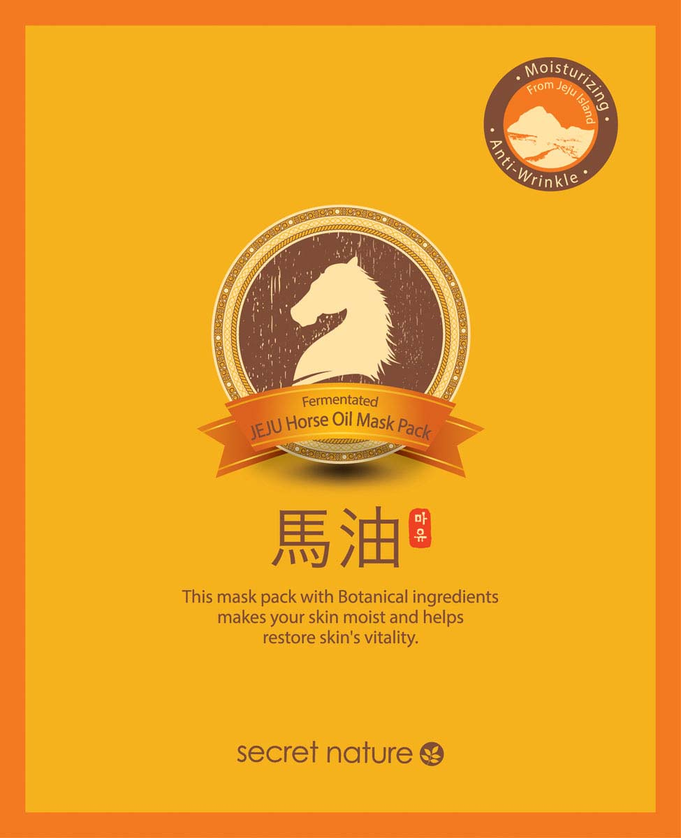 Secret Nature Fermentated Jeju Horse Oil Mask Pack Разглаживающая маска для лица с конским жиром, 20 мл baviphat urban dollkiss tongkeun golden horse oil pack маска для лица с лошадиным жиром 300 мл
