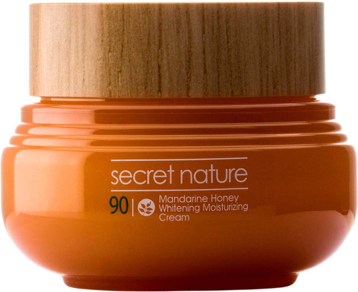 Secret Nature Mandarine Honey Whitening Moisturizing Cream Крем с мандарином и медом, придающий сияние, 60 мл white porcelain elements freckle cream whitening cream 35g whitening skin freckles age spots blemish net