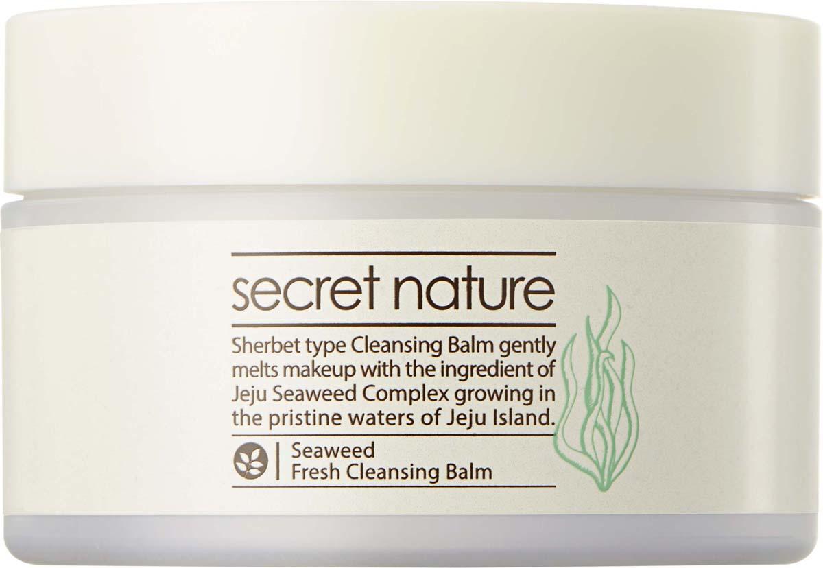 Secret Nature Seaweed Fresh Cleansing Balm Очищающий бальзам для снятия макияжа с водорослями, 100 мл estee lauder anr micro cleansing balm очищающий бальзам anr micro cleansing balm очищающий бальзам