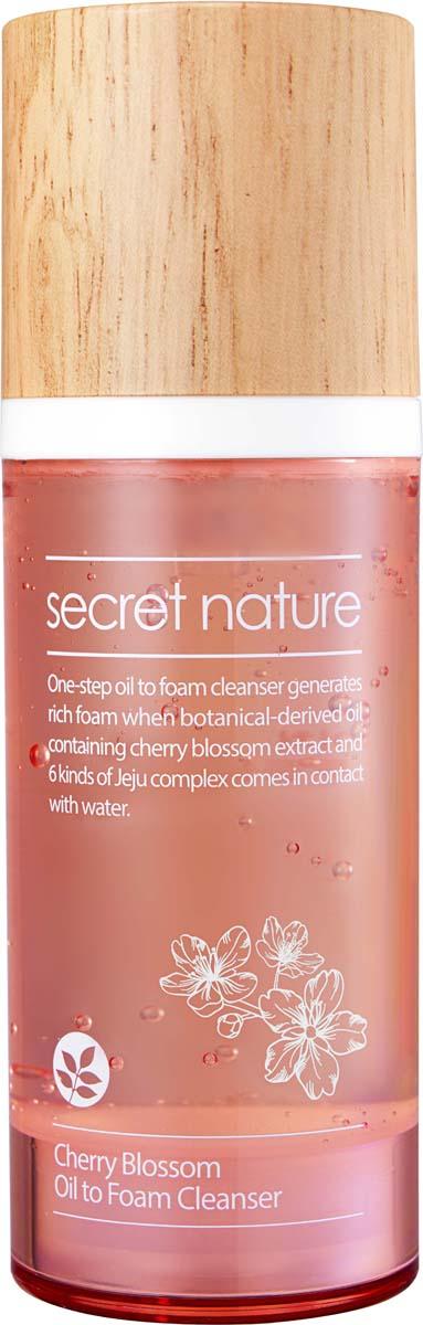 Secret Nature Cherry Blossom Oil to Foam Cleanser Гидрофильное масло-пенка для умывания с вишней, 100 мл 30ctq100 to 220