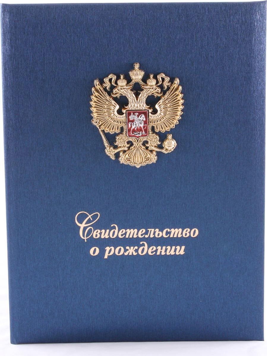 Обложка для свидетельства о рождении Family Treasures, цвет: синий. 1130