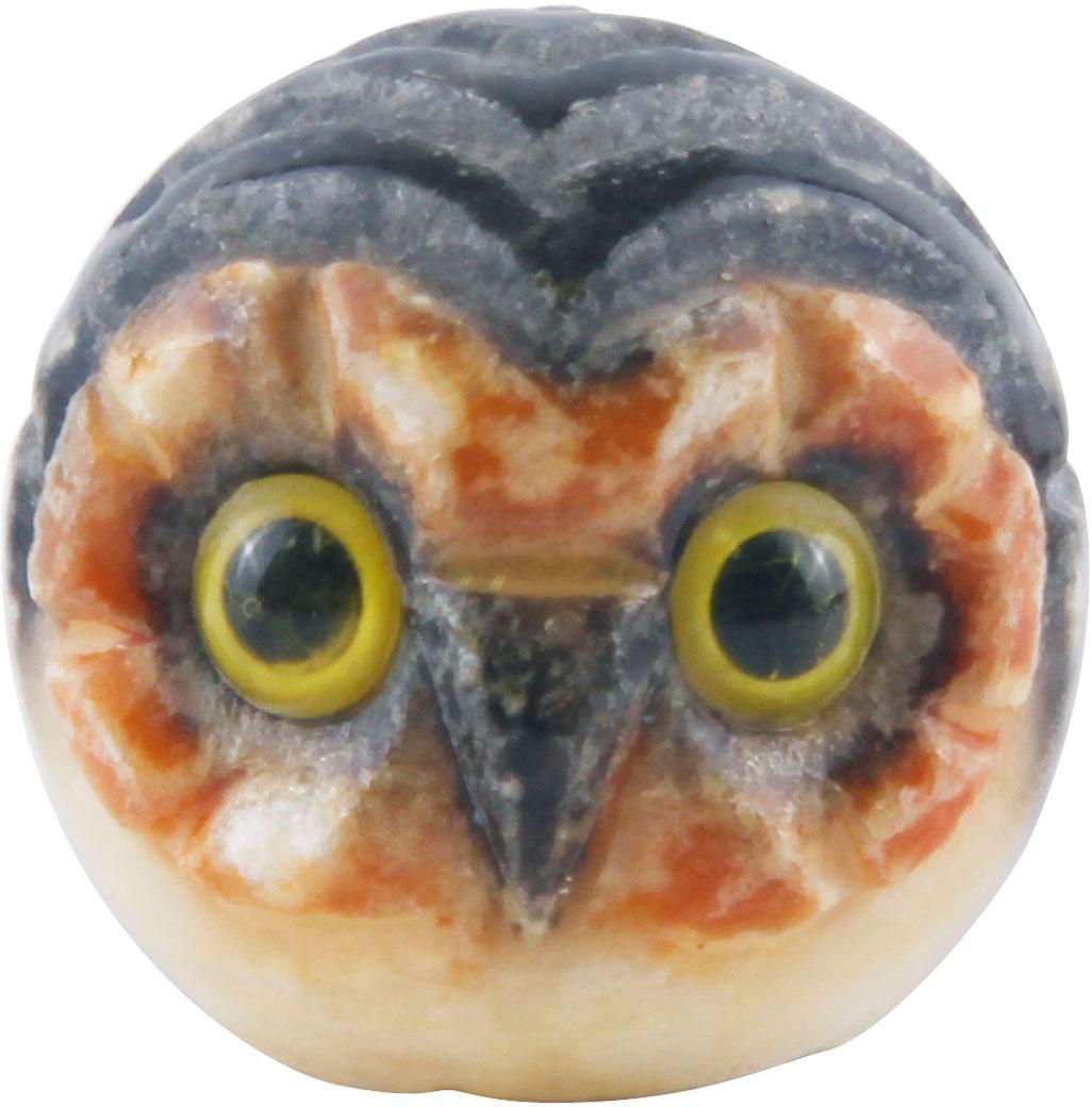 Коллекционная статуэтка Сова. Натуральный камень, пластик, резьба. Италия, конец XX века