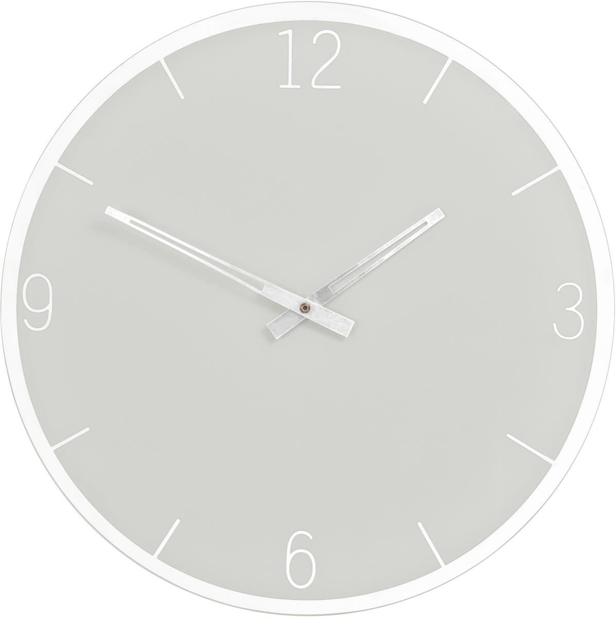 Часы настенные Innova W09655, цвет: серый, диаметр 35 см часы настенные innova w09656 цвет белый диаметр 35 см