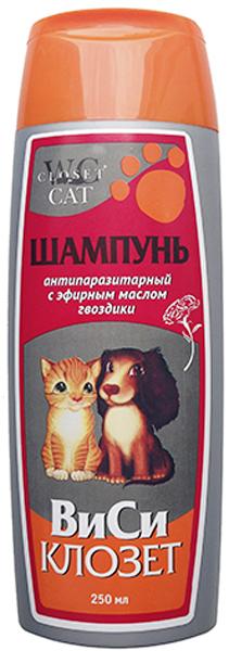 Шампунь для кошек и собак ВиСи Клозет, антипаразитарный, с эфирным маслом гвоздики, 250 мл гвоздики but carney 152010022 925