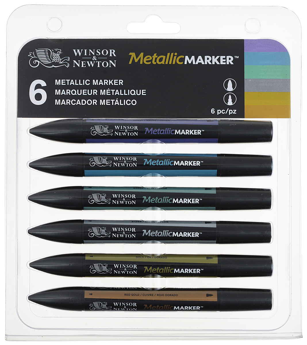 Winsor&Newton Набор маркеров Metallic Marker металлик 6 шт 6 pcs semi metallic motorcycle front