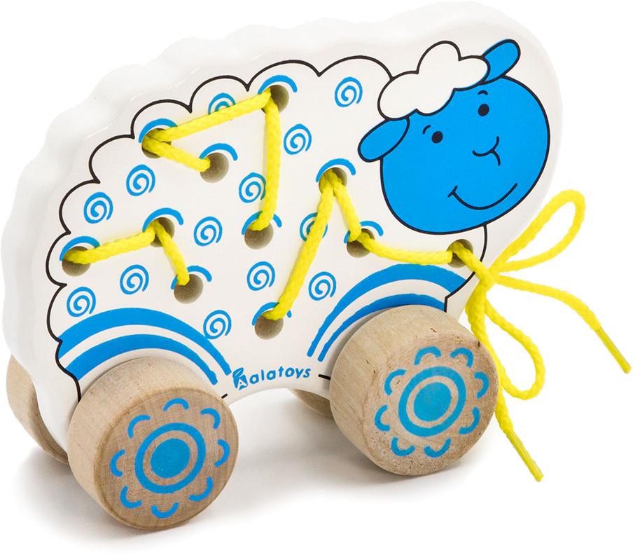 Alatoys Игрушка-каталка Овечка деревянные игрушки alatoys пазлы лошадки