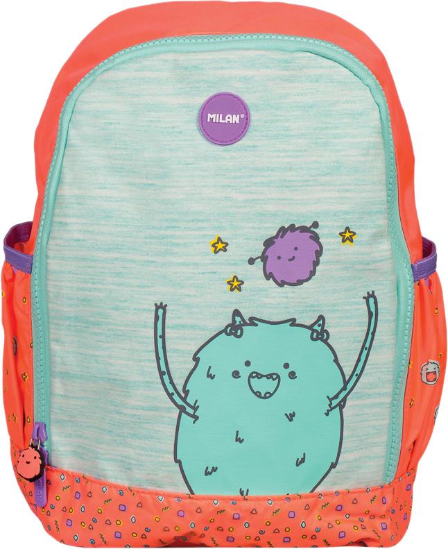 Milan Рюкзак детский Mimo цвет розовый зеленый рюкзак детский proff жесткий говорящий том 38 29 21 см с 1 отделением на замке