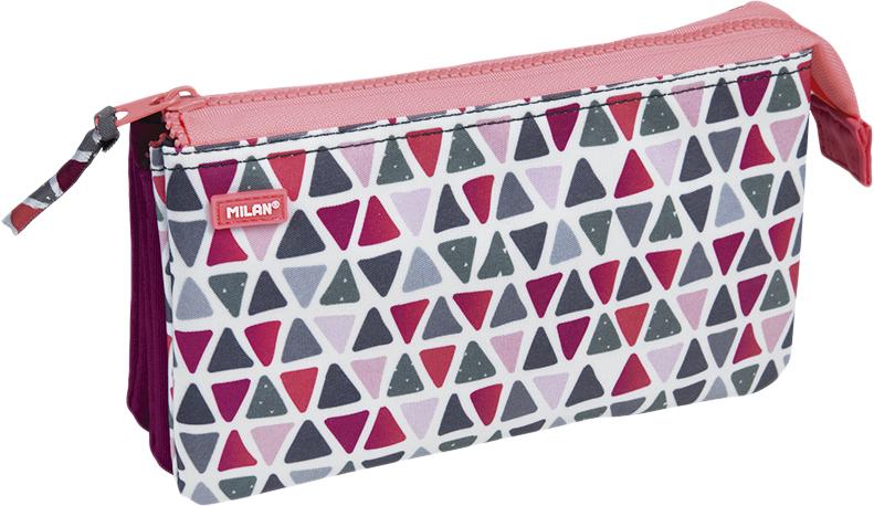 Milan Пенал-косметичка Geo Girl цвет розовый зеленый бордовый