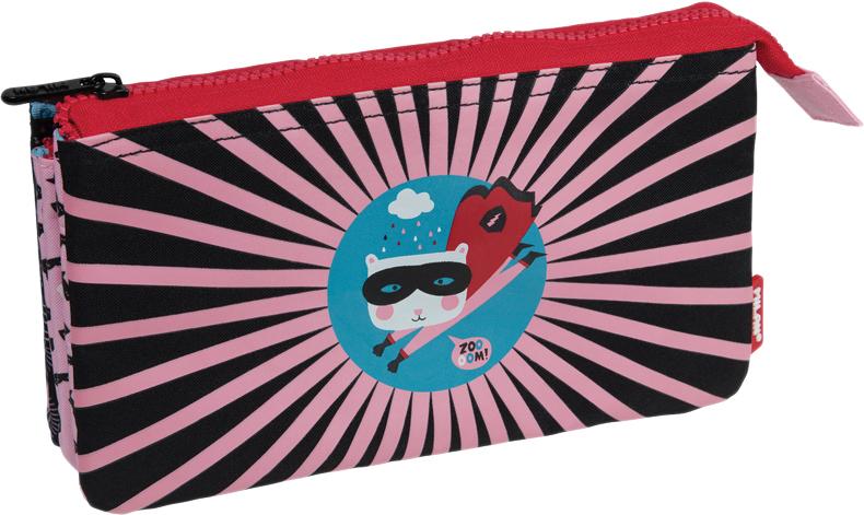 Milan Пенал-косметичка Super Heroes цвет черный розовый -  Пеналы