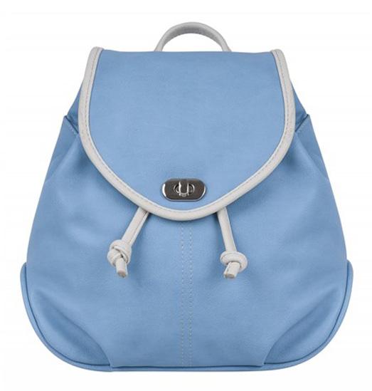 Рюкзак женский Constanta, цвет: голубой, светло-серый. 1-3325-036 рюкзак детский proff жесткий говорящий том 38 29 21 см с 1 отделением на замке
