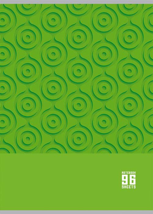 BG Тетрадь MonoColor 96 листов в клетку цвет зеленый 16076
