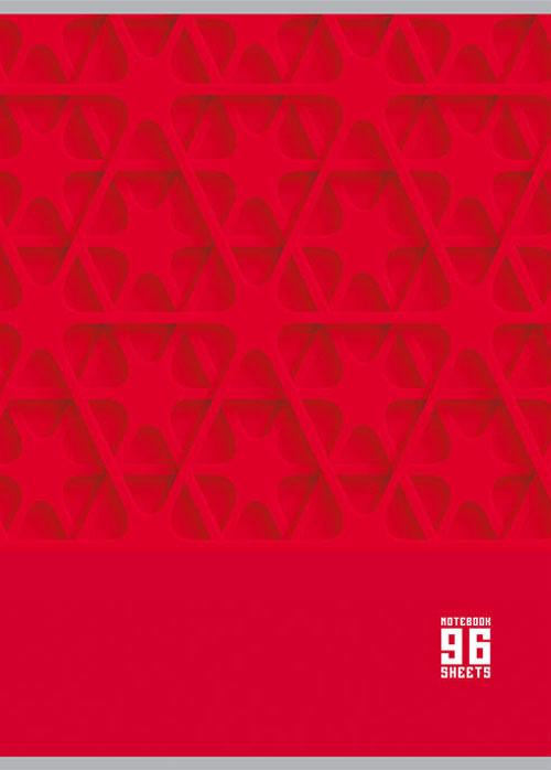 BG Тетрадь MonoColor 96 листов в клетку цвет красный 16077 99 96