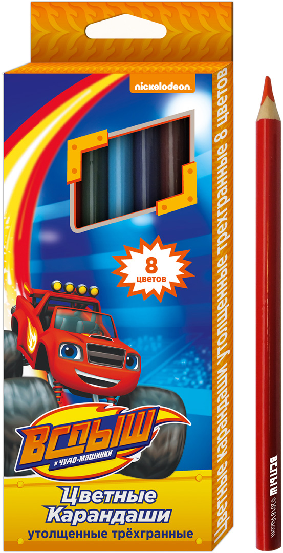 Blaze and the Monster Machines Набор цветных карандашей 8 цветов 33923