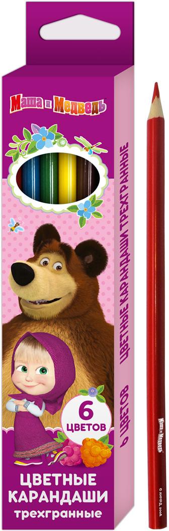 Маша и Медведь Набор цветных карандашей 6 цветов 3416734167Цветные трёхгранные карандаши Маша и Медведь идеально подходят для рисования, письма и раскрашивания. Яркие линии ровно ложатся без сильного нажима, позволяя при раскрашивании равномерно переходить от ярких оттенков к более спокойным тонам. Удобный трёхгранный корпус позволяет каждому пальчику расположиться на своей грани, что не даёт детской ручке уставать и вырабатывает у ребёнка привычку правильно держать пишущие принадлежности. Благодаря высококачественной древесине, карандаши легко затачиваются. Прочный грифель не крошится при падении и не ломается при заточке.В набор входит 6 цветных карандашей, упакованных в коробку с ярким принтом и специальным язычком, облегчающим открывание упаковки. Состав: древесина, цветной грифель. Диаметр грифеля: 3 мм. Срок годности не ограничен.